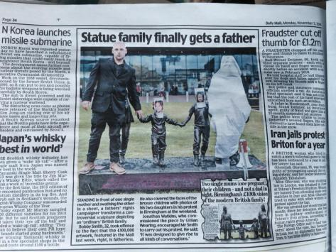 Statue family finally gets a Father
