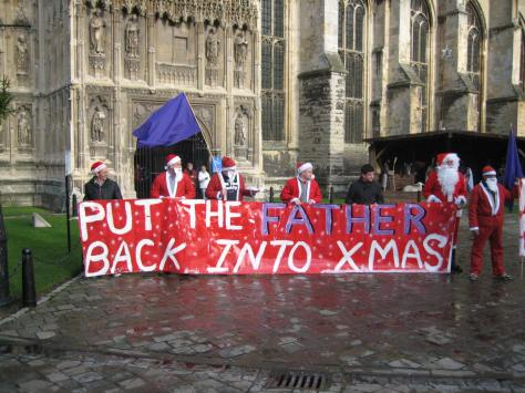 New Father 4 Justice Xmas Protest at Canterbury