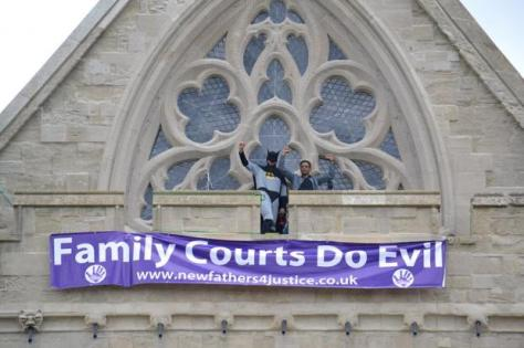 Activists at Exeter cathedral two years ago