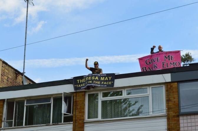 New Fathers 4 Justice Corbyn Roof